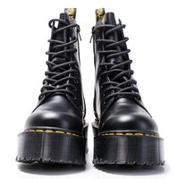Wholesale soft q for sale - Group buy Women Martin Boots Ankle Shoes Genuine Leather Ankle Boots Flat Platform Shoes Female Chunky Motorcycle Combat Boots Q