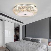 kinderzimmer decke großhandel-Moderne LED-Deckenleuchten runden Kristalllampen für lving Zimmer Schlafzimmer Kinder Zimmer Deckenbeleuchtung Küche zu Hause Beleuchtung 110V-240V
