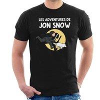 ingrosso maglia di neve jon-Jon Snow Tintin design 2019 nuove camice di stampa Lettera a buon mercato T online
