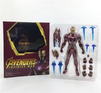 Wholesale Avengers Endgame High quality PVC Avenger Figures Marvel Heros cm Iron Man Figure Toys best gift