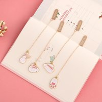 Wholesale paper book bookmarks resale online - JIANWU PC Alloy pendant bookmark creative Paper Bookmarks For Books kawaii School supplies