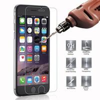 iphone coloré verres trempés achat en gros de-2.5D 9H Protecteur d'écran Trempé Verre Pour iPhone 6 6S 5S 7 8 Plus SE 4S 5 5C XR XS Trempé Verre Pour iPhone 7 6 6S Flim Protect Verre