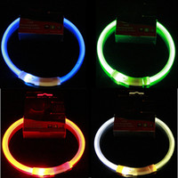 Wholesale dog collar pet led lights for sale - Group buy USB Charge Pets Dog Collar LED Outdoor Luminous Safety Pet Dog Collars Light Adjustable LED Flashing Puppy Collar Pet Supplies DBC BH3129