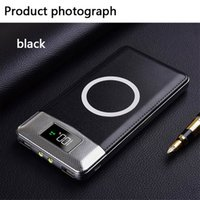 Wholesale bateria power bank resale online - 2019 Selling Quick Charge Wireless Power Bank Dual USB Power Bank mAh Wireless Charger Powerbank Bateria External Portable