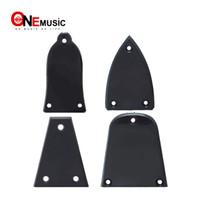 plastikgitarren bass großhandel-Schwarze Kunststoff Halsstababdeckung für akustische E-Bass