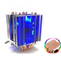 Wholesale cooler avc resale online - 6 Heat Pipe CPU Heat Sink AVC Pure Copper Lines AMD Computer CPU Cooler Temperature Control Single Double Wind