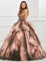 vestidos de novia de alta costura rosa al por mayor-Vestido de fiesta rosado Vestidos de boda góticos Longitud del piso Cuello de tirante Mujeres No blanco Vintage Vestidos de novia no blancos coloridos Costura por encargo