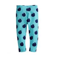 erkekler için sıkı pantolon toptan satış-Bebek Pantolon Çocuk Tayt Erkek Kız Tayt Çocuk Pantolon Bebek Giyim Baskı Karikatür Meyve Nokta Çiçek 41