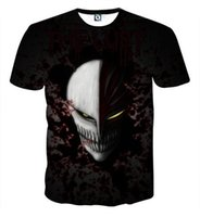 mens t shirt tam kollu toptan satış-BLEACH T Gömlek 3D dijital erkekler 3d Baskı tshirt Erkek Casual Tee tişörtleri Erkekler Kısa Kollu Tam Boyutu S-5XL Için Tops