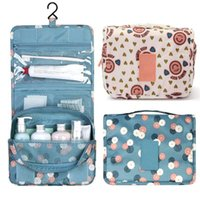 Wholesale pink hanging travel toiletry organizer for sale - Group buy Portable Travel Toiletry Wash Cosmetic Bag Makeup Storage Case Hanging Organizer Bag Wine Red color