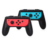 Wholesale stand for switch resale online - Grips for Nintendo Switch Joy Con Controller Set of Handle Comfort Hand grips Kits Stand Support Holder Shell case DHL