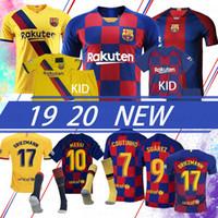 camisas personalizadas de calidad al por mayor-19 20 jerseys de encargo de Barcelona MESSI 17 Griezmann casa Fuera 9 SUAREZ PIQUE fútbol jerseys mujeres y niños de calidad superior camiseta de fútbol