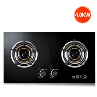 Wholesale gas stove online - Gas stove natural gas liquefied gas double stove desktop embedded dual use explosion proof glass pure copper flameout cover