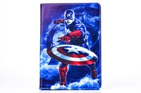 Wholesale hero leather for sale - Group buy New Hero Cartoon Film Soft Silicone TPU PU Leather Cover Tablet Stand Case For Apple ipad mini Children s Day Gift Boy