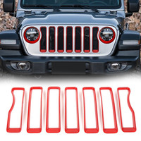 For Jeep Grand Cherokee ABS Front Headlight Lamp Trim Cover 8pcs  2014-2016