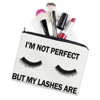 büyük kozmetik kılıfları toptan satış-Lashes Beyaz 3D Baskı Makyaj Çantası Neceser Kozmetik Durumda Rüya Büyük Moda Kadınlar Trousse De Maquillage Organizatör Kalem Kutusu