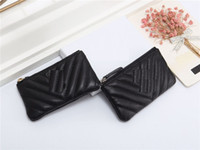 key pouch coin purse wallet designer wallets designer coin pouch purses card holder Lipstick bag with box dustbag top quality Lambskin