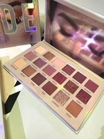 18 hd großhandel-Neue HD 18 Farbe Nude Lidschatten-Palette Beste Qualität Wasserdichte Augen Schönheit Schimmer Pigmentierte Schatten Pulver Make-Up Freies DHL Verschiffen