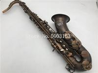 sax c großhandel-Neue Ankunft Mk VI Tenorsaxophon Bb Saxophon Messingrohr B-flache Einzigartige Retro Sax Musikinstrument Mit Fall Freies Verschiffen