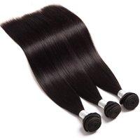 12 cabelos lisos malaysianos venda por atacado-Sorte Rainha Malaio Virgem Do Cabelo Humano Reta Não Transformados Remy Cabelo Tece Tramas Duplas 100g Pacote 3 lote lote Pode ser Tingido
