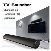 drahtloses heimkinosystem großhandel-20W Bluetooth 5.0 TV Soundbar drahtloser Lautsprecher Stereo Heimkino Hifi Spalte Surround USB-Sound-System der Wand befestigter Sound Bar