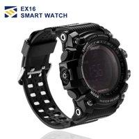 tecnología portátil para niños al por mayor-EX16 Sports Smart Watch Bluetooth IP67 a prueba de agua Cámara remota Rastreador de ejercicios Tecnología usable Ejecución del reloj de pulsera para IOS Android