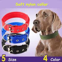 Wholesale nylon dog collar large for sale - Soft Nylon Collars for Dogs Colors Adjustable Sports Necklace for Small Medium Large Pet Dogs MMA1280