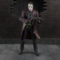 brinquedos batman para crianças venda por atacado-18 centímetros cosplay NECA Batman The Dark Knight Joker Heath Ledger PVC boneco de acção brinquedos modelo para as crianças presentes
