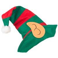 tiras de calavera al por mayor-diseño de lujo de Navidad sombreros rojos tiras duende verde payaso sombrero gorros adultos decoración de navidad parte BRW