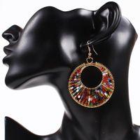 Wholesale huge jewelry sets for sale - Group buy Earings Beautifully Fashion Jewelry elegant Women acrylic crystal twisted Gold plated hook huge dangle earrings Set Bohemian Earrings