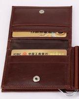 ingrosso titolare del controllo di affari-Versione coreana del nuovo raccoglitore di carte tre volte di colore puro business orizzontale multi-funzione portafoglio portafogli portafogli uomo americano