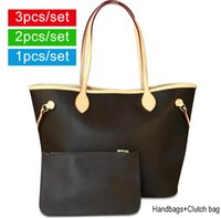 Wholesale ladies box handbags resale online - Women designer handbags Lady Leather Handbags wallet Shoulder Bag Tote Clutch Women Bags Designer Handbags With Box Dust Bag