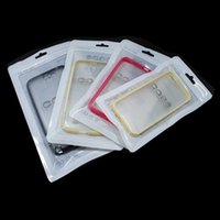 Wholesale cell phone hanging pouch resale online - 100pcs White Zip Lock Reusable Plastic Package Bag Cell Phone Accossories Storage Pouch Hang Hole Phone Case Clear Cover Bag