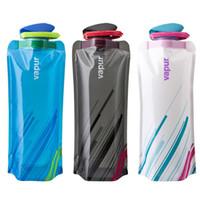 ambalaj sıkıştırma torbaları toptan satış-Açık Hidrasyon Katlanır Su Torbası Paketleri Seyahat Bisiklet Balıkçılık Yürüyüş Kamp Sıkıştırma Kolay Taşıma Su Isıtıcısı Yaratıcı 700 ML Su Isıtıcısı