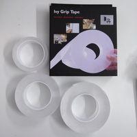 Wholesale nano gel online – 1M M M M Double Sided Stripe Gel Grip Tape Soft Anti Slip Wall Fridge Sticker Nano Strong Adhesive Tape Office School Home Improvement