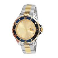 мужские нержавеющие часы оптовых-2017 Luxury New Gent's GMT II 2 кварцевые Self Wind Часы Нержавеющая Сталь Dive Белый Черный Серебряный Мастер 44 мм Мужские Часы