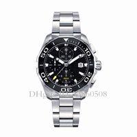 ingrosso sport svizzeri-Luxury Watch Swiss Watch Men Tag Montres Acciaio inossidabile di alta qualità in ceramica lunetta cronografo orologio al quarzo Sport orologio da polso