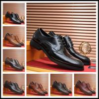 ingrosso marche di scarpe di vestito superiore per gli uomini-25ss Nuovo arrivo italiano Top Leather Designer Nuovo marchio migliore qualità uomini spogliatoi scarpe Oxford nero bianco taglia 38-45 da uomo con scatola