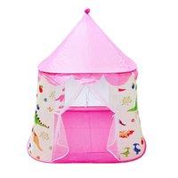 Wholesale girls princess bedding resale online - Portable ChildrenS Tent Toy Ball Pool Crib Netting Nursery Bedding Princess GirlS Castle Play House Folding Baby Beach Tent