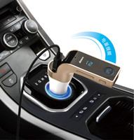 micro bluetooth kit großhandel-G7 Auto Drahtlose Bluetooth MP3 FM Transmitter L Design Modulator 2.1A Auto Ladegerät Wireless Kit Unterstützung Freisprech Micro SD 50 stücke