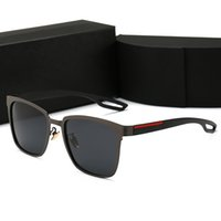 quadros sem armação venda por atacado-PRADA 0120 Luxo Homens e Mulheres Marca de Óculos De Sol de Moda Oval óculos de Sol UV Lente de Proteção Revestimento de Espelho Da Lente Sem Moldura Cor Banhado A Quadro