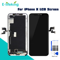 Discount replacement lcd screen for iphone AMOLED LCD For iPhone X Display Touch Screen Digitizer Assembly OEM Replacement TFT 100% Tested For iPhone X 5.8""