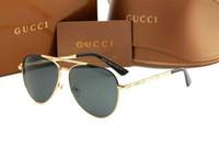 gafas de sol de flash al por mayor-Redondas de metal gafas de sol de diseñador Gold Flash lente de cristal para mujer para hombre del espejo gafas de sol redondas sol unisex Glasse envío libre