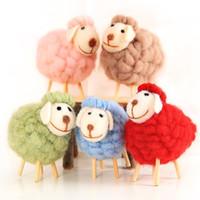 Wholesale diy shop decor resale online - 12x10cm Christmas Wool Felt Sheep Ornaments DIY Christmas Tree Decoration Hanging Ornaments Home Shop Window Festival Decor