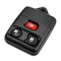substituição shell chave do carro venda por atacado-3 Botão Virar remoto Fob Car Shell Chave Para substituição Uncut Lâmina Car Key Case Cover