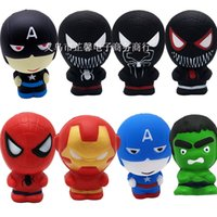 Wholesale Squishy Cartoon Character Squishy Phone Pendant Slow Rising Captain America Hulk Spiderman Iron Man squishies CM