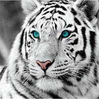 juguete tigre blanco al por mayor-Completo Cuadrado / Redondo 5D DIY Diamante kits de pintura