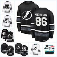 point de jeux achat en gros de-86 Nikita Kucherov Hommes 2019 All Star Game Tampa Bay Lightning 21 Brayden Point 13 Cédric Paquette 88 Andrei Vasilevskiy Chandails de Hockey