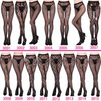 ingrosso calza di coscia-Calze a rete delle donne 2019 NUOVO 30 stili sexy Donne lungo Fishnet sexy calze collant a rete lingerie calze della pelle alta della coscia calza ZSFS003