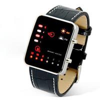 ingrosso orologi da polso usati-2018 più nuovo LED Digital Sport orologio da polso multi-funzione molto di moda uso pratico orologio da polso binario in pelle PU Mens